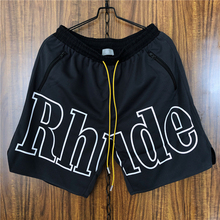 Rhude Shorts Men Women 1:1 High Quality Streetwear Mesh Fashion Casual  Sportswear Real Picture
