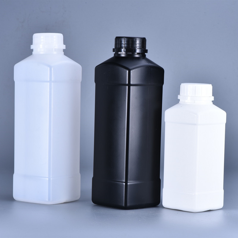 500ML,1000ML Square Plastic Refillable Bottle Cosmetic Shampoo,Lotion,Liquid Container With Lid HDPE Material