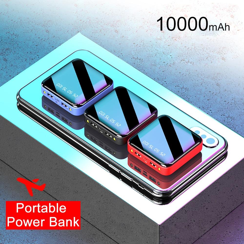 PINZHENG Mini Portable 10000mAh Power Bank For Xiaomi Mi With LED Digital Display 2