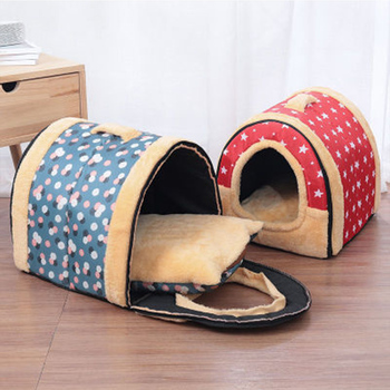 Pet dog warm nest mat foldable movable cover pet dog cat small and medium sized dog washable bed room image