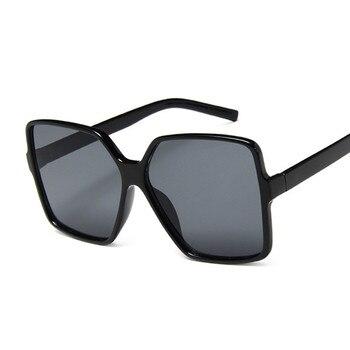 Black Square Oversized Sunglasses Women Big Frame Colorful 2