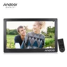 Andoer цифровая фоторамка 1920*1080 HD рекламная машина полный вид ips экран Поддержка случайная игра с дистанционным управлением Рождественский подарок