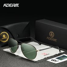 KDEAM Couple Pilot Sunglasses Polarized Men Twin Bridge Driv