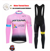 Winter ASTANA Pro Cycling Team Jersey 9D Pads Bike Pants Set Women Ropa Ciclismo Thermal Fleece Cycling Wear Maillot Culotte