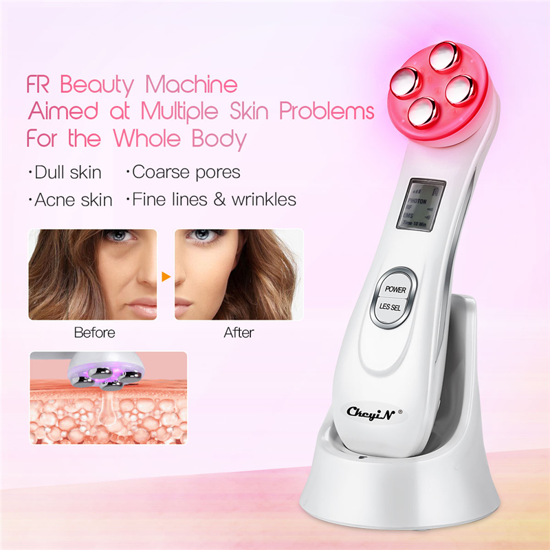 Image 2 - RF EMS Electroporation LED Photon Light Therapy Beauty Device Anti Aging Face Lifting Tightening Eye Facial Skin Care Tools 38-in Face Skin Care Tools from Beauty & Health