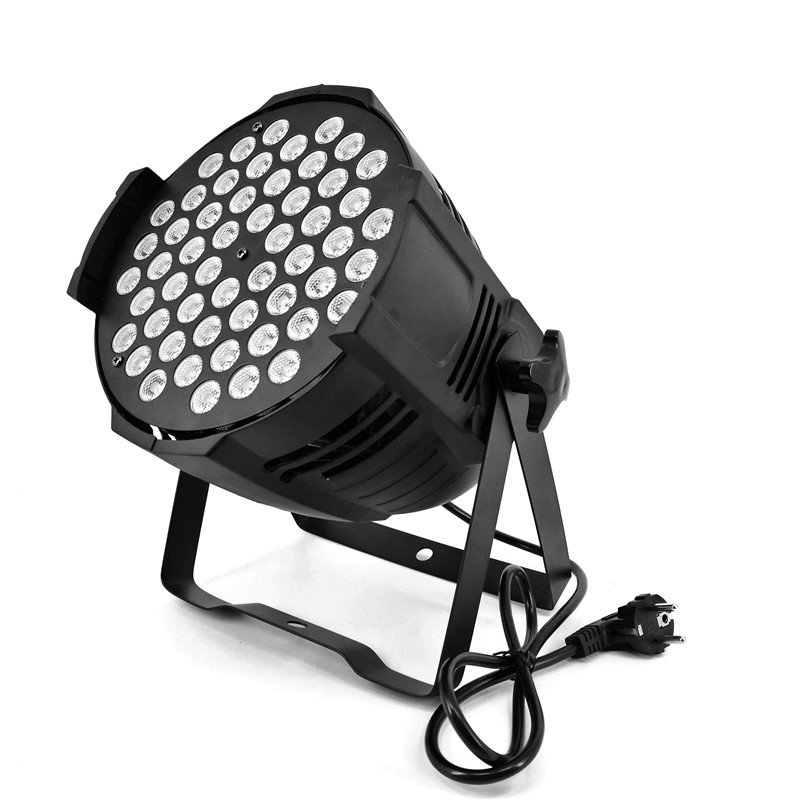 54X9W Aluminum LED Par Cans RGB 3IN1 Stage Lighting DMX 3/7 Channels Dual Light/Backdrop Projector ROHS