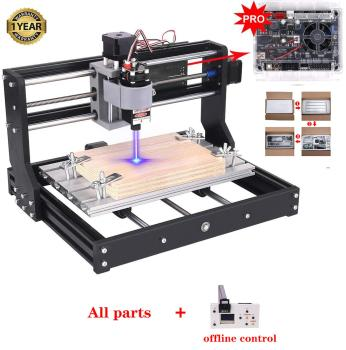2 in-1 Laser Engraver CNC 3018 Pro Engraving Machine, GRBL Control 3 Axis DIY Mini CNC Machine Wood Router Engraver with 3 axis grbl control board offline hand controller for cnc laser engraver machine