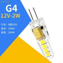 G4 светодиодный мини-светильник, маленькая лампочка с низким давлением, Хрустальная лампочка-кукуруза, лампа с подсветкой, 220 В, светодиодный подвесной светильник