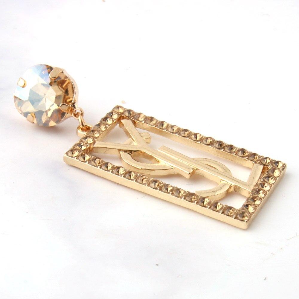 Woman Fashion Drop Earrings Geometric Round Zinc Alloy Earrings Luxury Brand Letter Earrings Wedding Jewelry Earrings Wholesale