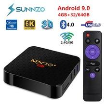 MX10 Plus สมาร์ททีวีกล่อง Android 9.0 Allwinner H616 Google Voice 6K 4GB 64GB ชุดกล่องด้านบน2.4G/5G Wifi H.265 4K Media Player MX10 +