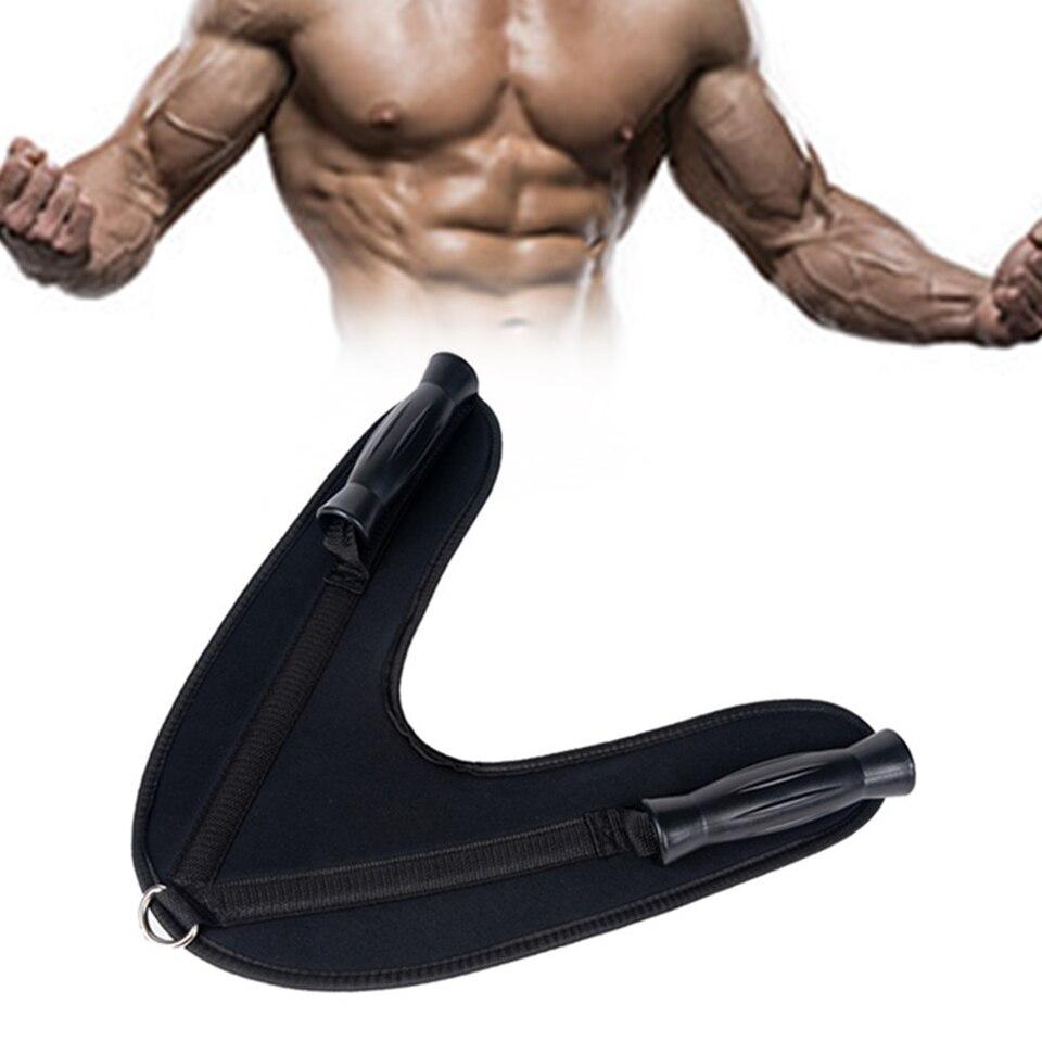 Details about  /Gym Fitness Abdominal Crunch Double Grip Handle Pull Belt Shoulder Strap 1pc