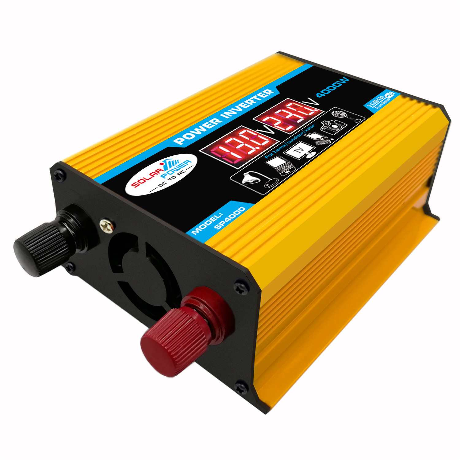 Car <font><b>Inverter</b></font> <font><b>12V</b></font> 220V <font><b>1000W</b></font> Pe ak Power <font><b>Inverter</b></font> Voltage Convertor Transformer <font><b>12V</b></font> To 110V/220V Inversor + LCD Display image