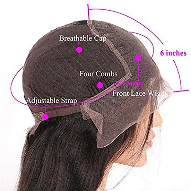 Бразильский Волосы remy Выделите волнистые 13X6 Синтетические волосы на кружеве парики с детскими волосами 150% Плотность средняя соотношение С... - 4