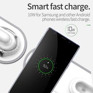 Image 3 - HOCO CW21 3 trong 1 Đế Sạc Không Dây dành cho Đồng Hồ Apple 4 3 2 1 Củ Sạc Nhanh dành cho Airpods iPhone 11 X XS MAX 8 Sạc Không Dây CHUẨN QI Miếng Lót