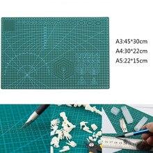 Tapete de corte verde de PVC A2/A3/A4/A5, almohadilla cortada de retales, herramientas manuales de bricolaje, estera de corte de cuero