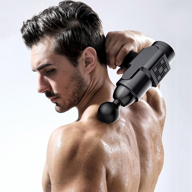 Мышечная фасция пистолет расслабляющий массажер мышечный Стимулятор Вибратор перкуссия глубокая ткань тела Массажер Персональный Theragun 6 г...