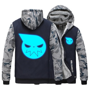 High-Q Unisex Anime Soul Eater MAKA ALBARN luminous hooded hoodie feece Cardigan Soul Eater thick Noctilucent hoodie jacket фото