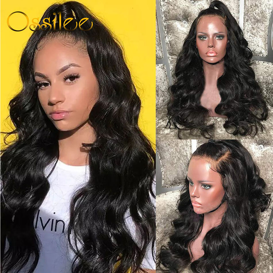 Brazilian Body Wave Lace Front Human Hair Wigs Remy 13x4 Lace Front Wigs For Women Pre Plucked Lace Wig Natural Hairline