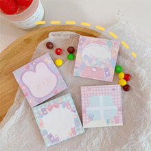 Pink Girl Heart Memo Pad Student Messages Do Memo Sticky Notes Office Supplies Can Tear And Paste Decoration N Times