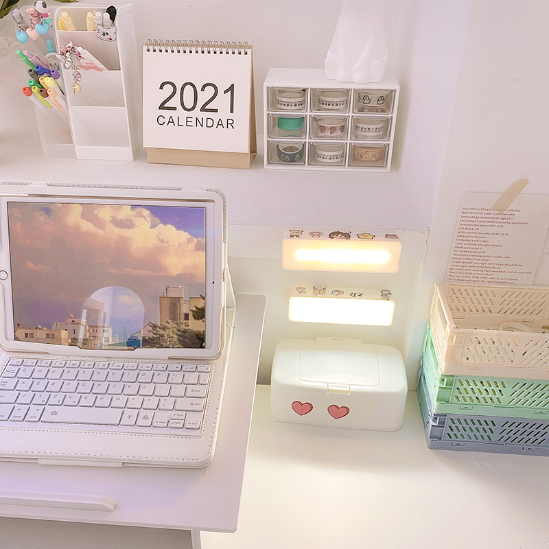 New Stepless Dimming LED Reading Desk Lamp USB Rechargeable Table Lamp for Study Touch Magnetic Bedside Lamp Night Light Home