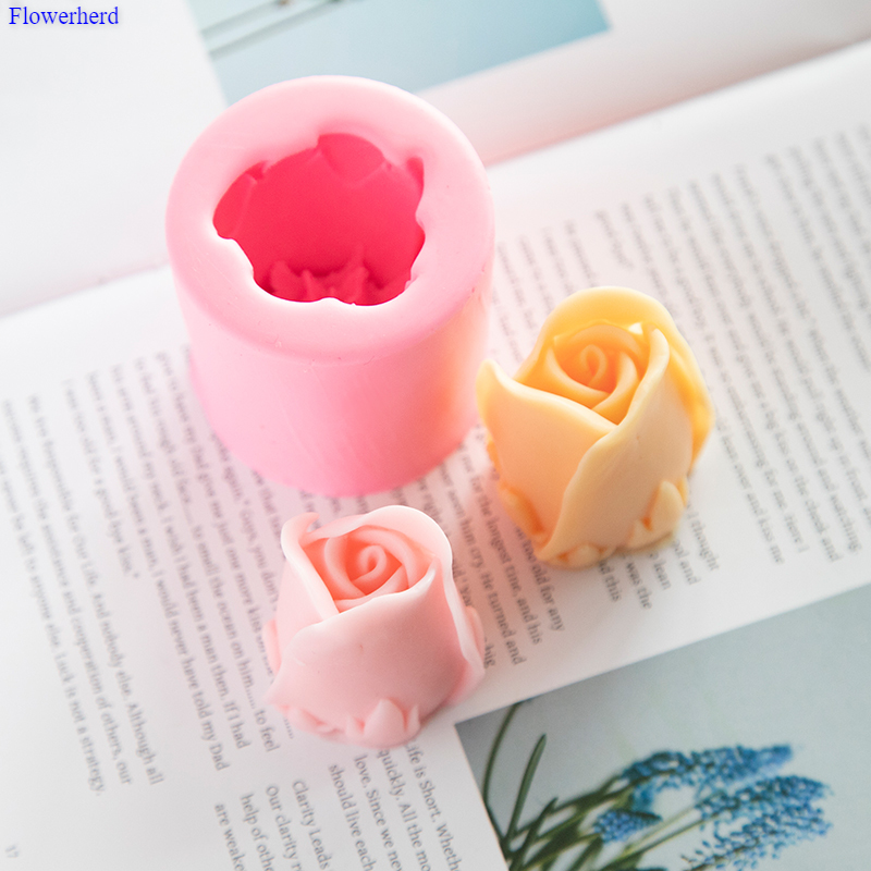 Single Hole Tulip Mold Handmade DIY Flower Soap Silicone Mold Chocolate Cake Mold Silicone Mold Soap Forms Soap Making Supplies
