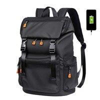 Zaino da uomo di nuova moda zaini impermeabili multifunzionali borsa per Laptop da 15.6 pollici borsa da viaggio per ricarica USB da uomo di grande capacità