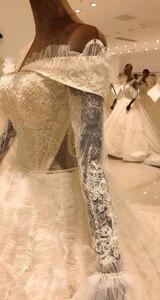 Image 5 - 2020 elegant lace long sleeve ball gown wedding dress bride casamento robe longue vestido de noiva princesa vestido SL 8031