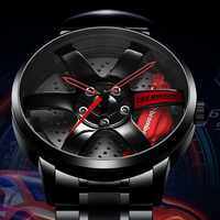 NIBOSI Felge Hub Uhr Individuelles Design Sport Auto Felge Uhren Wasserdicht Kreative Relogio Masculino Uhren Mann Armbanduhr