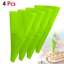 4PCS Pastry Bags Kitchen Silicone Reusable Baking Icing Piping Cream Pastry Bag Set Cake Decorating Tools Baking Accessories D10
