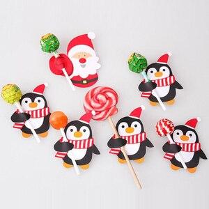 Image 1 - Bộ 50 Ông Già Noel Chim Cánh Cụt Lollipop Nơ Giáng Sinh Lolly Đường ổ bánh Quà Giáng Trang Trí Tiệc Quà Tặng Cho Gia Đình 2018 Trang Trí