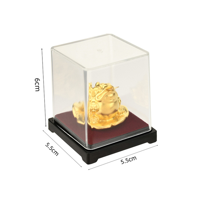 24k Gold Foil Frog Feng Shui Toad Chinese Golden Frog Money Lucky Fortune Wealth Office Tabletop