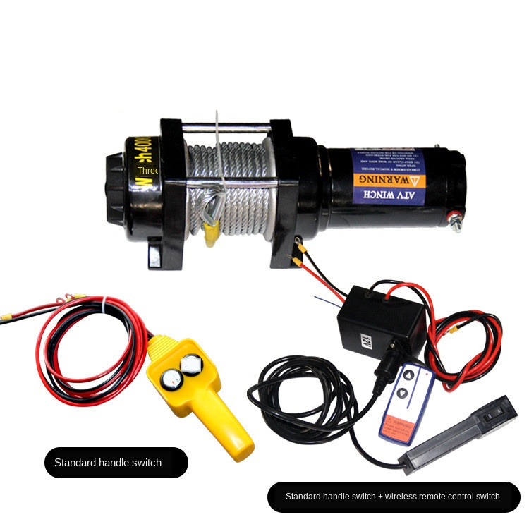 electric winch 12v Car winch <font><b>2000LB</b></font> -12000LB handle and wireless image
