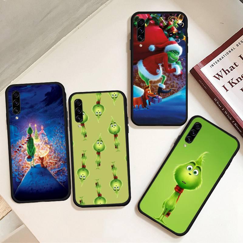 Verde pelo Grinch de Navidad caja del teléfono para Samsung Galaxy M10 20 30 40 50 70 71 6S A2 A6 A9 2018 J7 CORE PLUS estrella S10 5G C8
