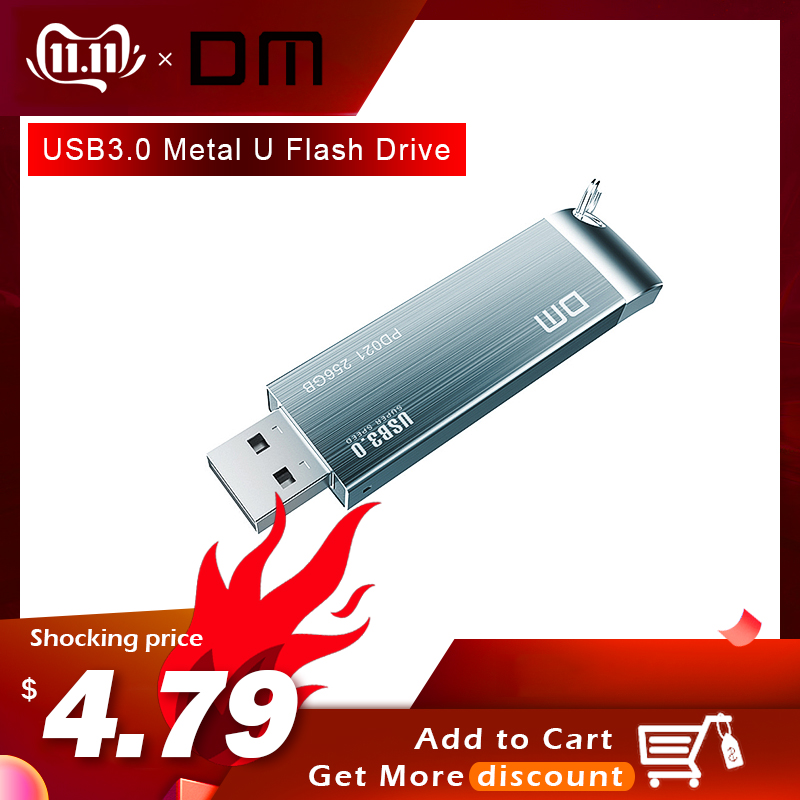 DM PD021 USB Flash Drives 64G 32G 16G Metal USB 3.0 High-speed Pen Drive Waterproof Business Pendrive USB Stick Free Shipping