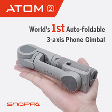 Snoppa atom 2 smartphone cardan 3-axis automático dobrável handheld estabilizador atom2 cardan para iphone huawei samsung xiaomi gopro