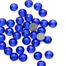 Blue Rhinestones ss3 ss4 ss5 ss6 ss8 ss10 ss12 ss16 ss20 ss30 Crystal Nails Glue on Nails Rhinestones Hot Fix Decorations