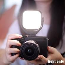 Minicámara de luz de vídeo para fotografía, iluminación de relleno de Vlog fotográfico integrada, batería LED 5500K L9V5