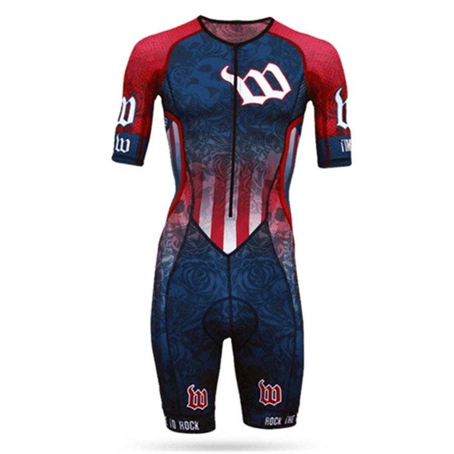 Wattie ink 2020 outdoor triathlon jersey skinsuit cycling mens bicycle sports ciclismo body set splash clothes MTB skin suit