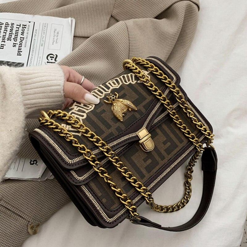 Высококачественные женские сумки на цепочке, новинка 2020, модная сумка на одно плечо через плечо, женские модные вечерние кошельки, женские п...