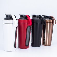 700ml Creative Stainless Steel Protein Shaker Shake Milkshake Mixing Cup Outdoor Sports Fitness Shake Cup Sport Bottle BPA Free stainless steel cup vacuum mixer outdoor drink 26oz kettle detachable whey protein powder outdoor portable sports shake bottle