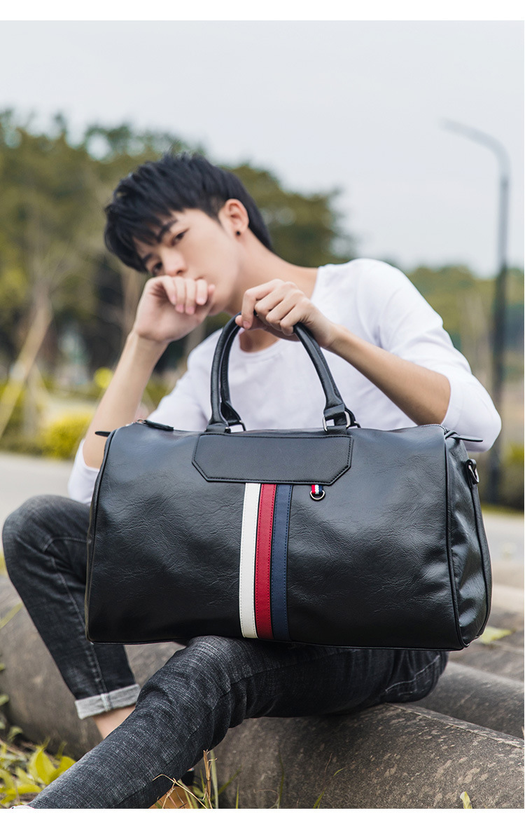 Large-capacity Handbags Portable Business Casual Men's Bags Single Shoulder Diagonal Leather Official Travel Bags