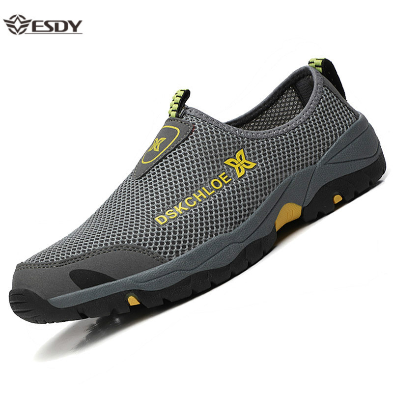 Summer Mesh Shoes Men Sneakers Plus Size Lightweight Breathable Walking Footwear 2020 New Slip-On Comfortable Casual Men's Shoes