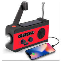 Solar Hand Crank Radio AM / FM / WB Weather Radio Emergency