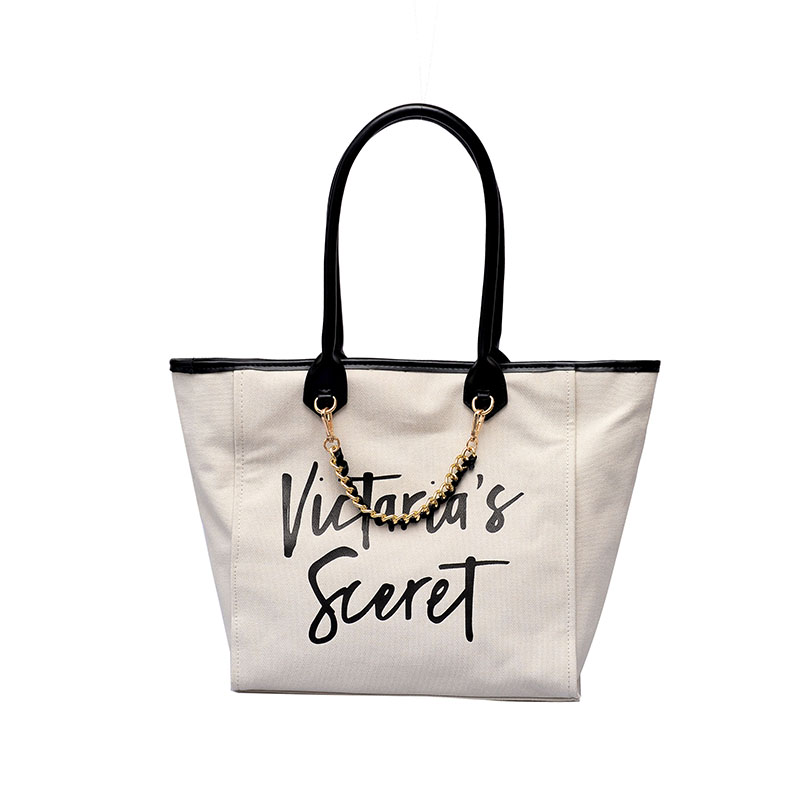 Ladies Handbag Shopping Bag New European And American Fashion Letter Large Capacity Canvas Bag