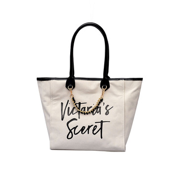 Ladies Handbag Shopping Bag New European and American Fashion Letter Large Capacity Canvas Bag