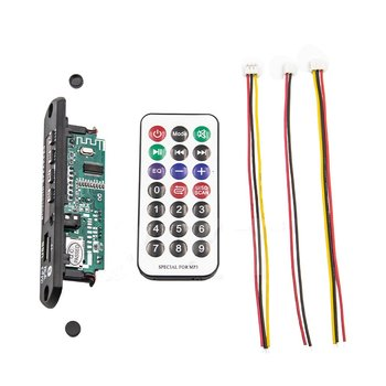 New Car USB Bluetooth MP3 5/12V WMA FM AUX Decoder Board Audio Module Support TF SD Card Decoder Board with Remote Control image