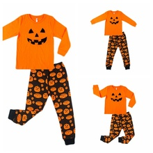 Children\s Halloween Pumpkin  Infant Baby Boys Girls Casual Toddlers T-Shirt Long Sleeve Sleepwear Outfits 2pc Set