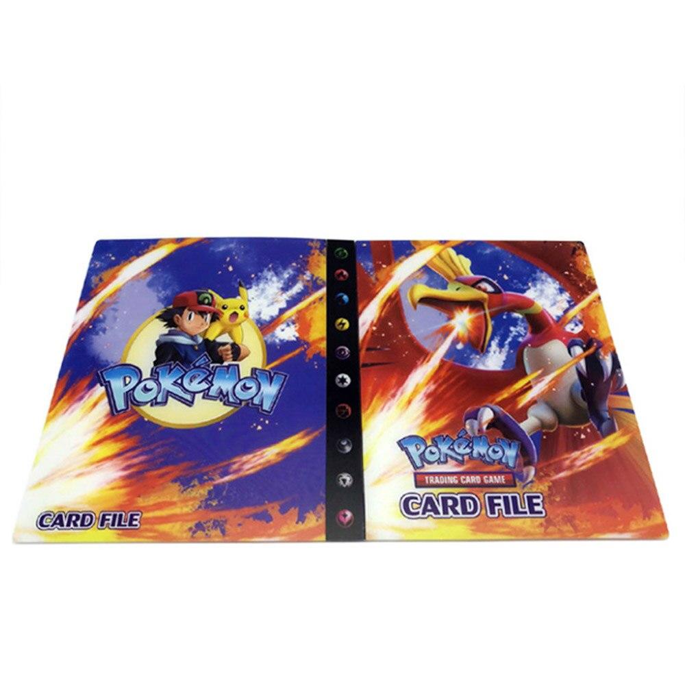 240 шт. держатель Альбом игрушки коллекции Pokemones карты Альбом Книга Топ загруженный список игрушки подарок для детей - Цвет: 8