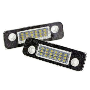 2Pcs 12V 18 LED Car License Plate Light White Number Plate Lamps Light SMD For Ford Fusion for Mondeo/MK2 for Fiesta MK5