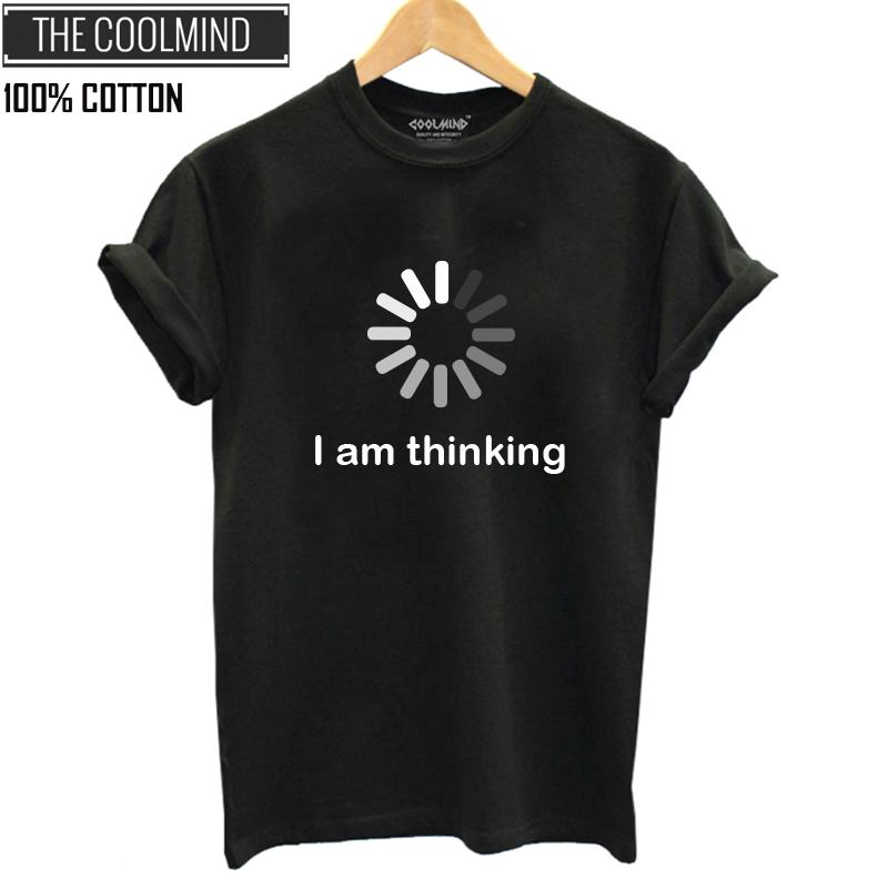 COOLMIND QI0235B 100% Cotton Cool Summer Women Tshirt Short Sleeve O-neck Women T-shirt Casual T-shirt Female Tee Shirt